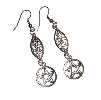 Dragophelion Designs Pentagram Dangle Earrings | Angel Clothing