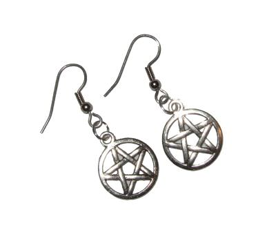 Dragophelion Designs Pentagram Earrings | Angel Clothing