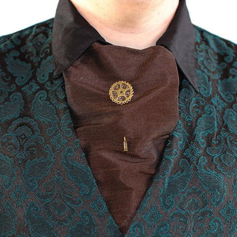 Dragophelion Steampunk Cravat Pin Single Gear | Angel Clothing