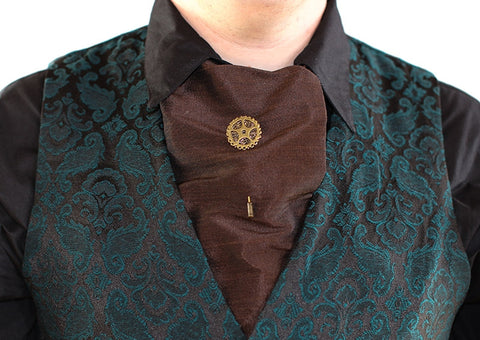 Dragophelion Designs Steampunk Cravat Pin with Single Gear - Angel Clothing