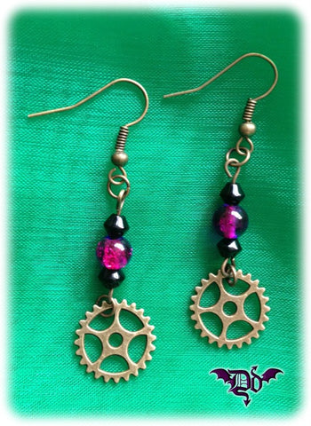 Dragophelion Designs Steampunk Gear Earrings | Angel Clothing