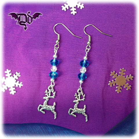 Dragophelion Designs Winter Frost Reindeer Earrings | Angel Clothing