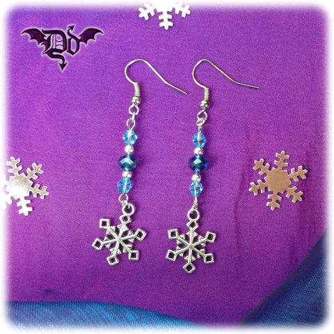 Dragophelion Designs Winter Frost Snowflake Earrings - Angel Clothing