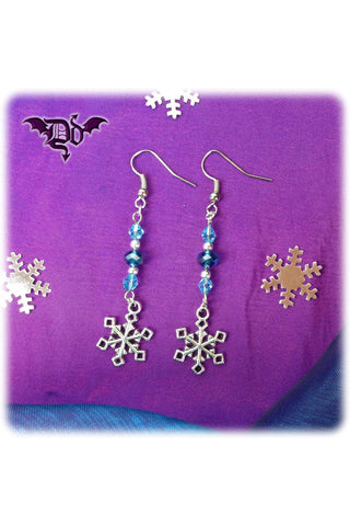 Dragophelion Designs Winter Frost Snowflake Earrings | Angel Clothing