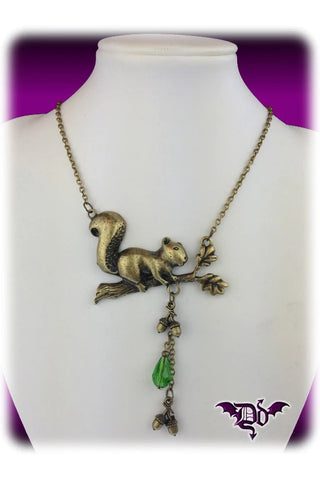 Dragophelion Designs Woodland Creatures Squirrel Necklace | Angel Clothing