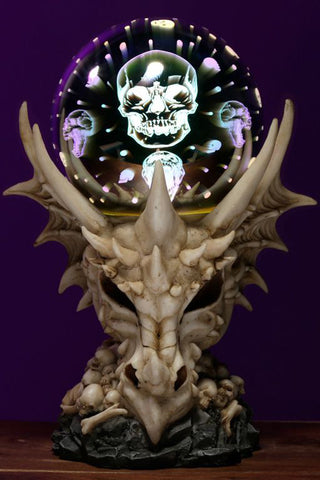 Dragon Skull LED Metallic Orb | Angel Clothing