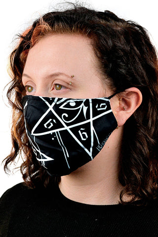 Dripping Pentagram Mask | Angel Clothing