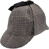 Tweed Sherlock Holmes Style Deerstalker Hat | Angel Clothing