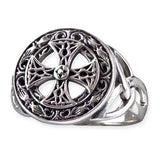 Echt etNox Silver Celtic Cross Ring Sterling Silver | Angel Clothing