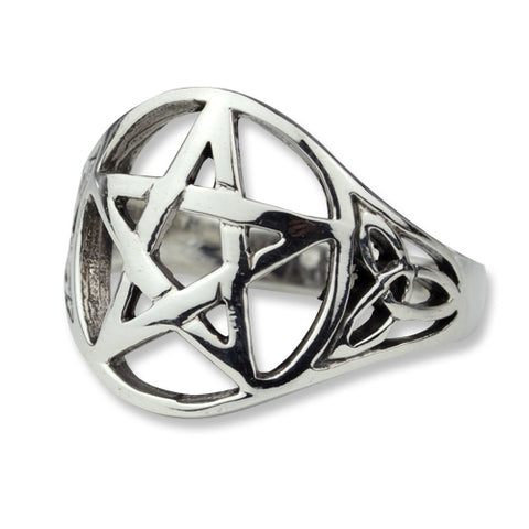 Echt etNox Celtic Pentagram Ring 925 Silver | Angel Clothing
