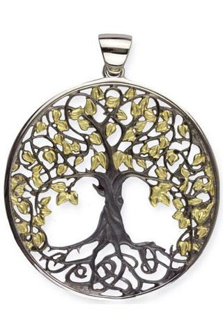 Echt etNox Black Gold Sterling Silver Tree of Life Pendant | Angel Clothing