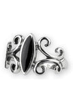 Echt etNox Black Onyx Sterling Silver Ring | Angel Clothing