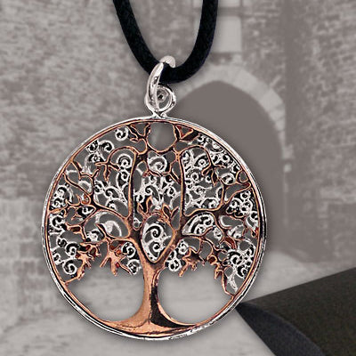 Echt etNox Tree of Life Pendant Bronze/Silver | Angel Clothing