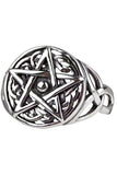 Echt etNox Celtic Pentagram Ring Sterling Silver | Angel Clothing