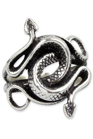 Echt etNox Double Snake Ring Sterling Silver | Angel Clothing