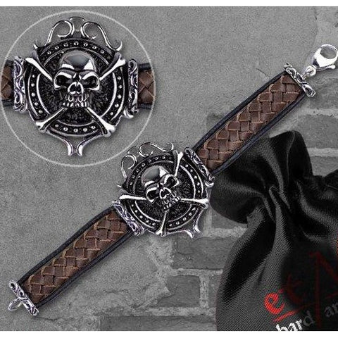 Echt etNox Leather Skull Bracelet | Angel Clothing