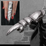 Echt etNox Long Finger Claw Armour Ring | Angel Clothing