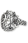 "Echt etNox ""Moon Pentacle"" Ring 925 silver 