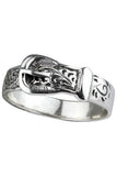 Echt etNox Ornament Belt Ring Sterling Silver | Angel Clothing