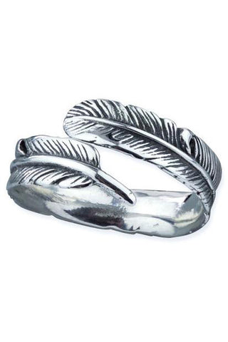 Echt etNox Sterling Silver Feather Ring | Angel Clothing