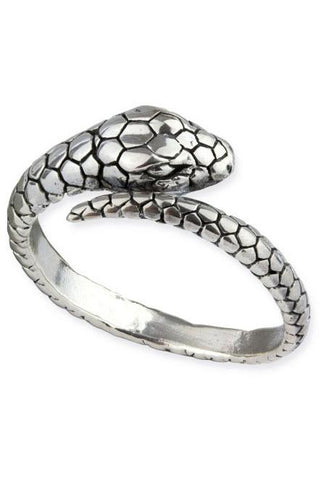 Echt etNox Sterling Silver Snake Ring | Angel Clothing