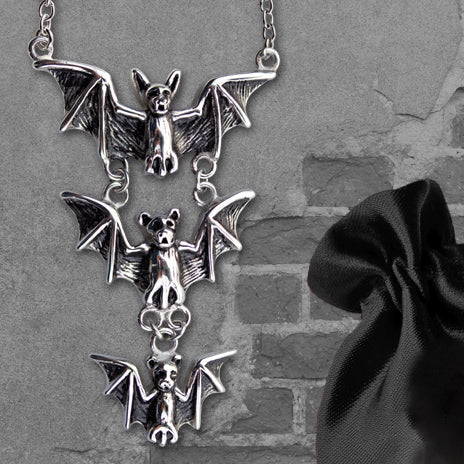 Echt etNox Triple Bats Necklace | Angel Clothing