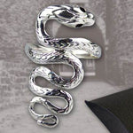 Echt etNox Big Snake Ring Silver | Angel Clothing