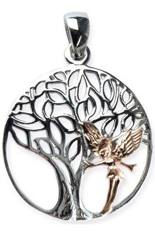 Echt LuxXL Sterling Silver Elvish Tree Pendant | Angel Clothing