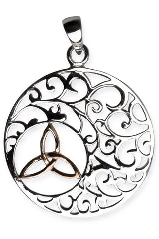Echt LuxXL Sterling Silver Trinity in Ornament Pendant | Angel Clothing