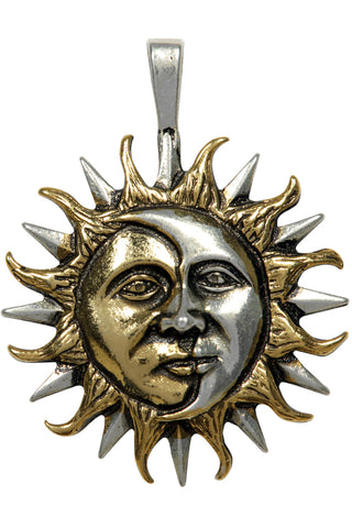 Eclipse Sun and Moon Pendant | Angel Clothing