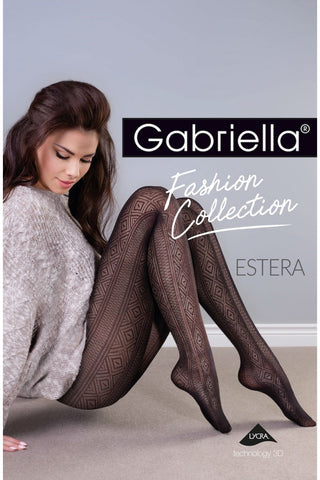 Gabriella Estera Tights Nero | Angel Clothing