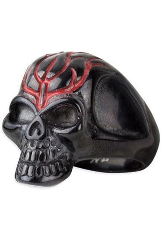 etNox Black Skull Ring | Angel Clothing