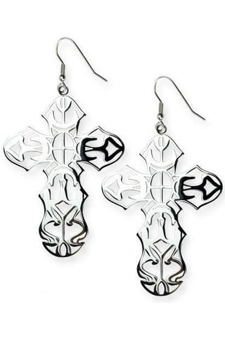Echt etNox Cross Earrings | Angel Clothing