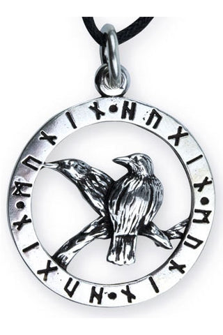 etNox Ravens of Odin Pendant 925 Sterling Silver | Angel Clothing