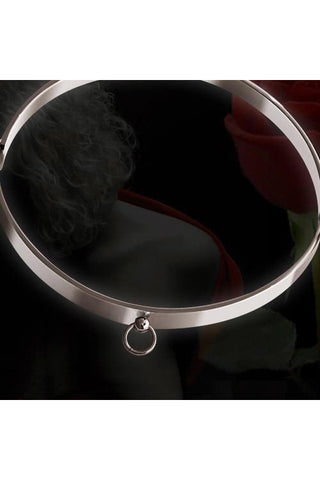 Echt etNox Story of O Steel Ring Fetish Choker | Angel Clothing