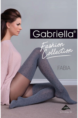 Gabriella Fabia Tights Melange/Grey | Angel Clothing