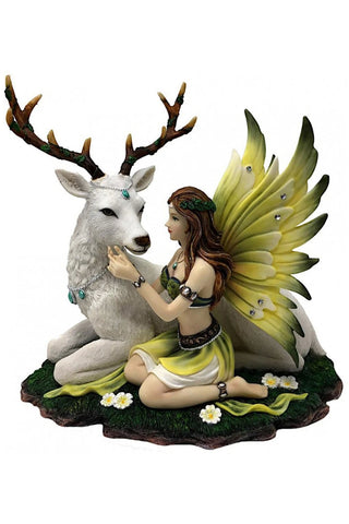Adoration Fairy with White Deer Figurine | Angel Clothing