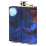 Fire in the Sky Dragon Hip Flask by James Ryman 200ml | Angel Clothing