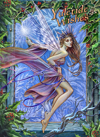 Forest Faerie, Yuletide Card | Angel Clothing