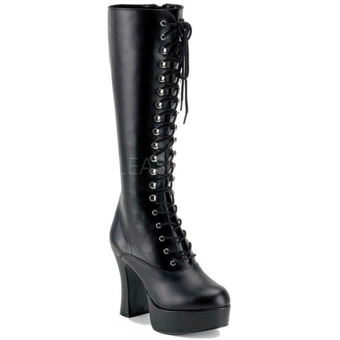 Funtasma Black Leather Look Knee Boots - Exotica 2020 | Angel Clothing