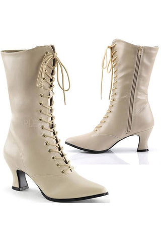 Funtasma Victorian 120 Boots Cream | Angel Clothing