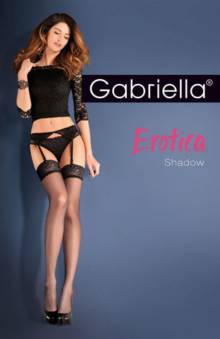 Gabriella Calze Shadow 220 Hold Ups Nero | Angel Clothing