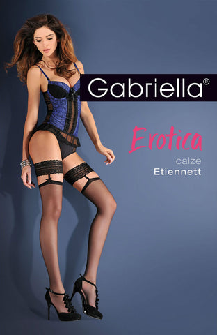 Gabriella Erotica Calze Etiennett Hold Ups | Angel Clothing