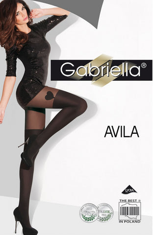 Gabriella Fantasia Avila Tights Black | Angel Clothing