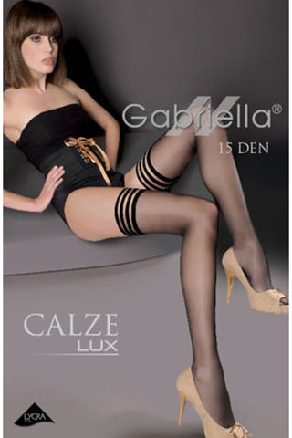 Gabriella Calze Lux 202 Hold Ups Nero | Angel Clothing