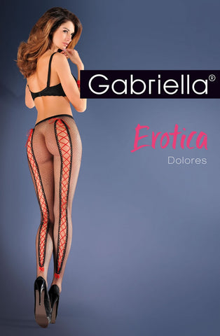 Gabriella Erotic 639 Dolores Tights Nero | Angel Clothing