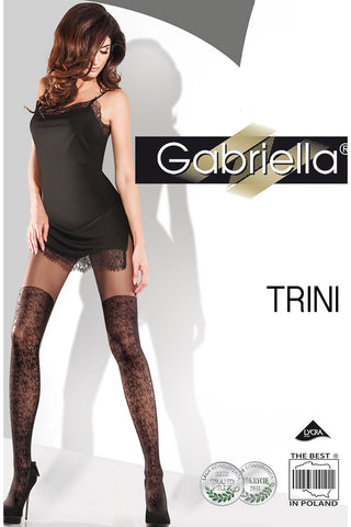 Gabriella Trini Swirl Design Tights | Angel Clothing