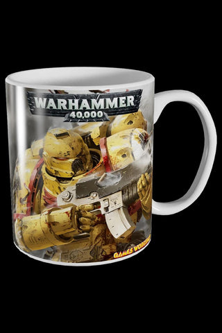 Games Workshop Warhammer 40,000 Imperial Fists Mug | Angel Clothing