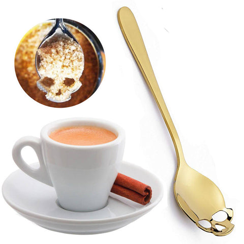 Gothic Skull Sugar Spoon Gold | Angel Clothing