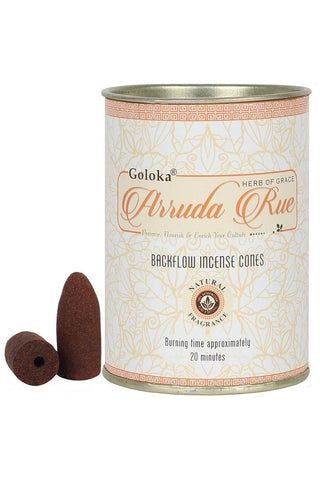 Goloka Arruda Back Flow Incense Cones | Angel Clothing